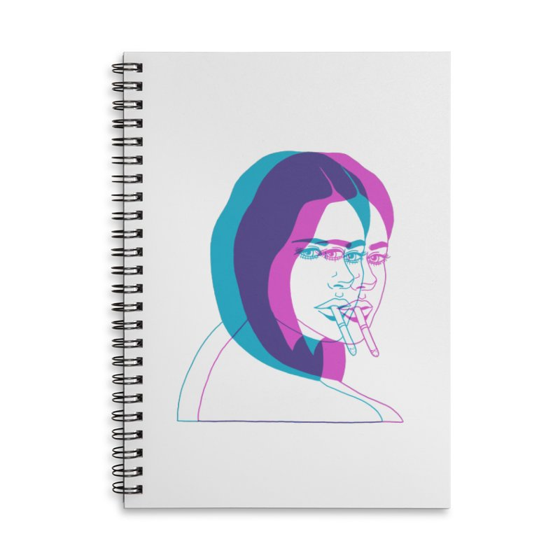 I'd rather be asleep right now Accessories Lined Spiral Notebook by EarthtoMonica