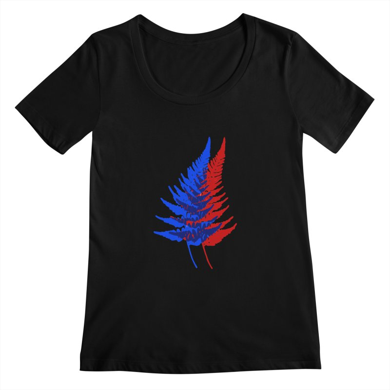 double fern Women's Scoopneck by Earthtomonica's Artist Shop