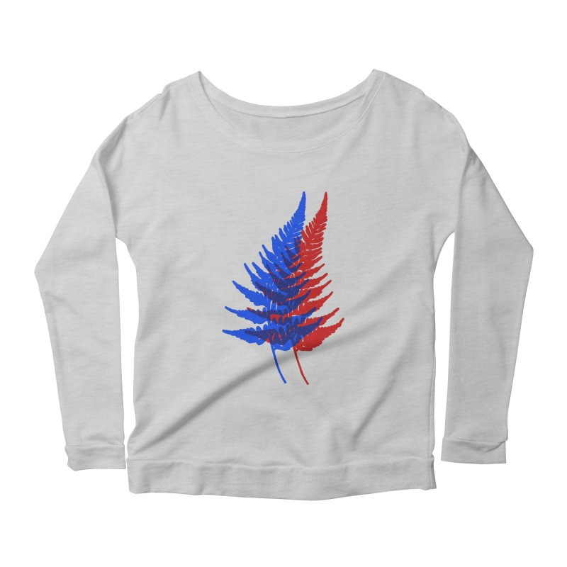 double fern Women's Longsleeve Scoopneck  by Earthtomonica's Artist Shop
