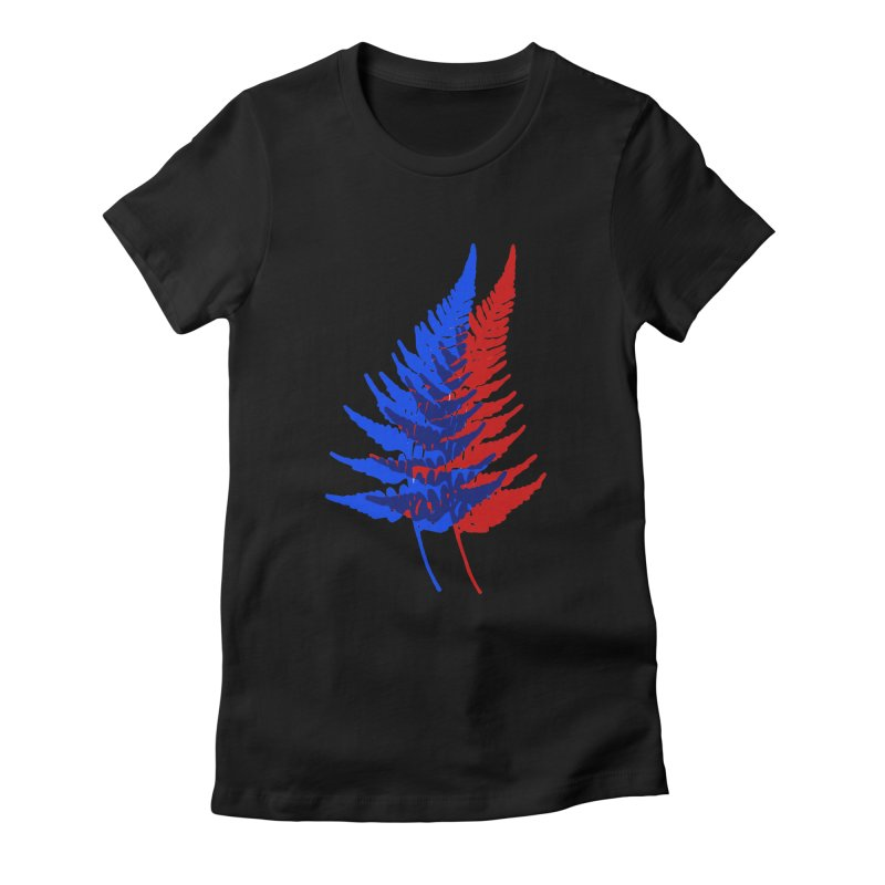 double fern Women's Fitted T-Shirt by Earthtomonica's Artist Shop