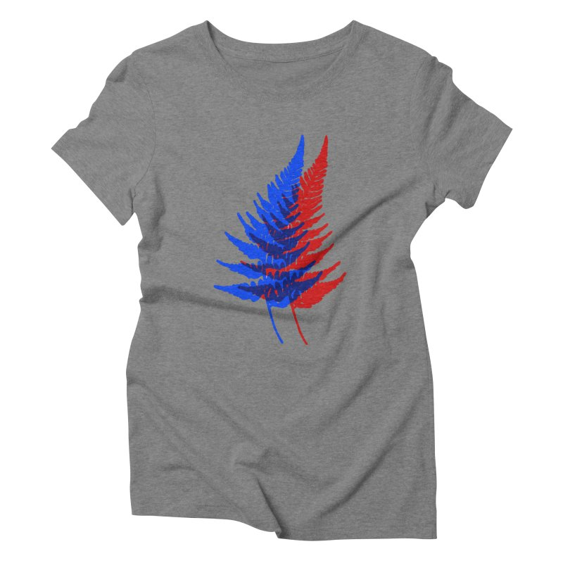 double fern Women's Triblend T-shirt by Earthtomonica's Artist Shop