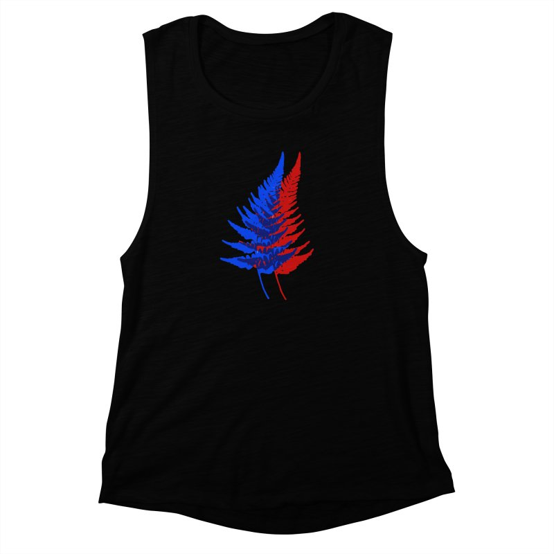 double fern Women's Muscle Tank by EarthtoMonica
