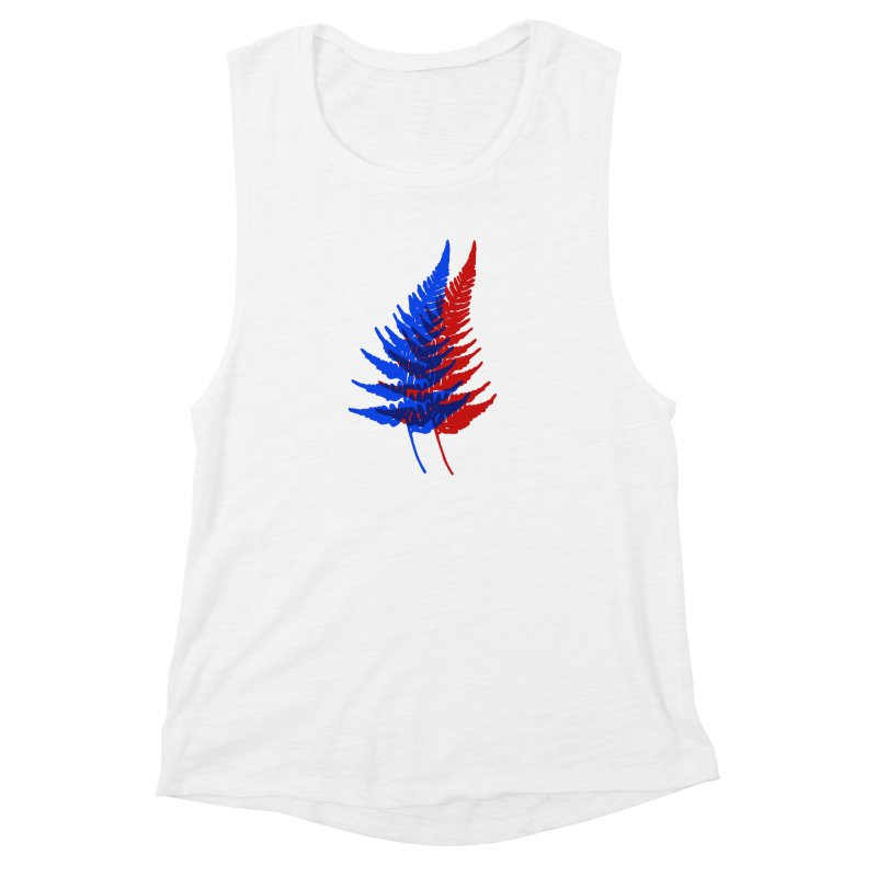 double fern Women's Muscle Tank by Earthtomonica's Artist Shop