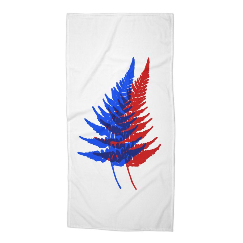 double fern Accessories Beach Towel by Earthtomonica's Artist Shop