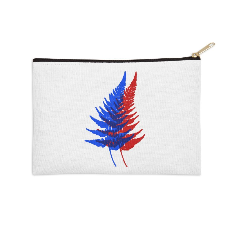 double fern Accessories Zip Pouch by Earthtomonica's Artist Shop