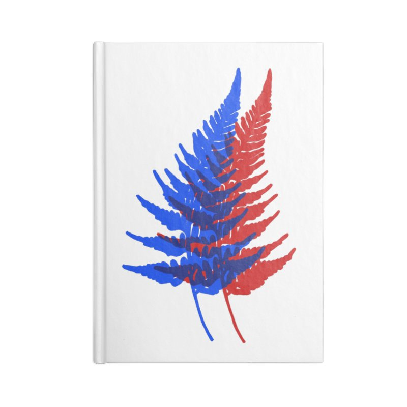 double fern Accessories Lined Journal Notebook by EarthtoMonica