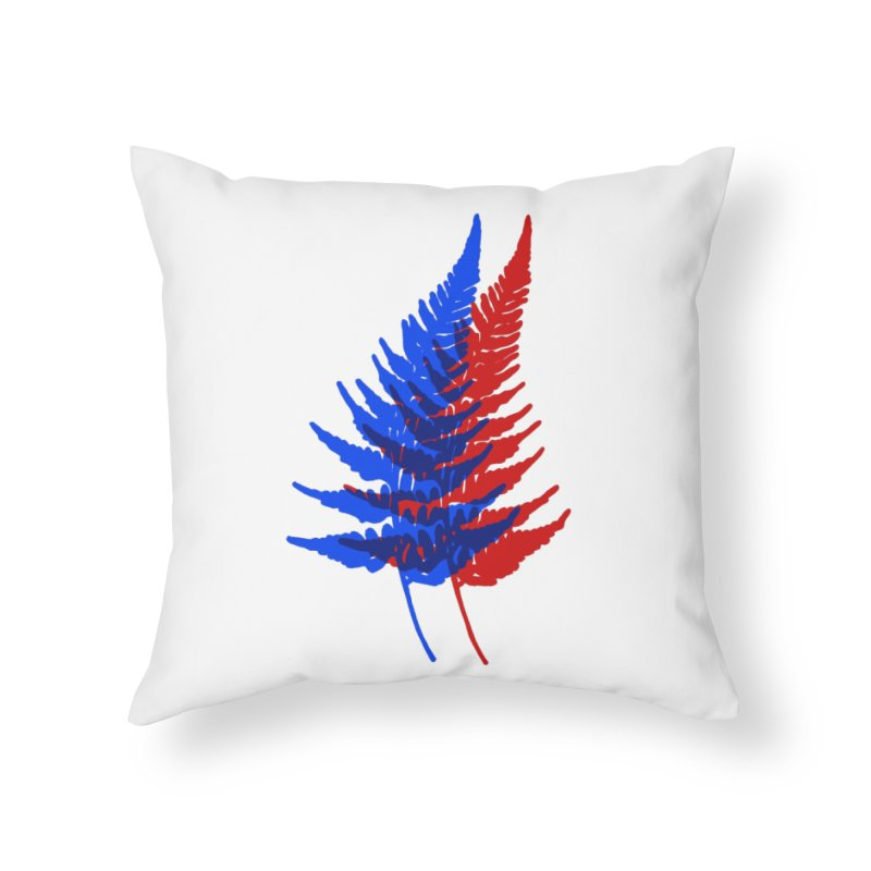 double fern Home Throw Pillow by Earthtomonica's Artist Shop