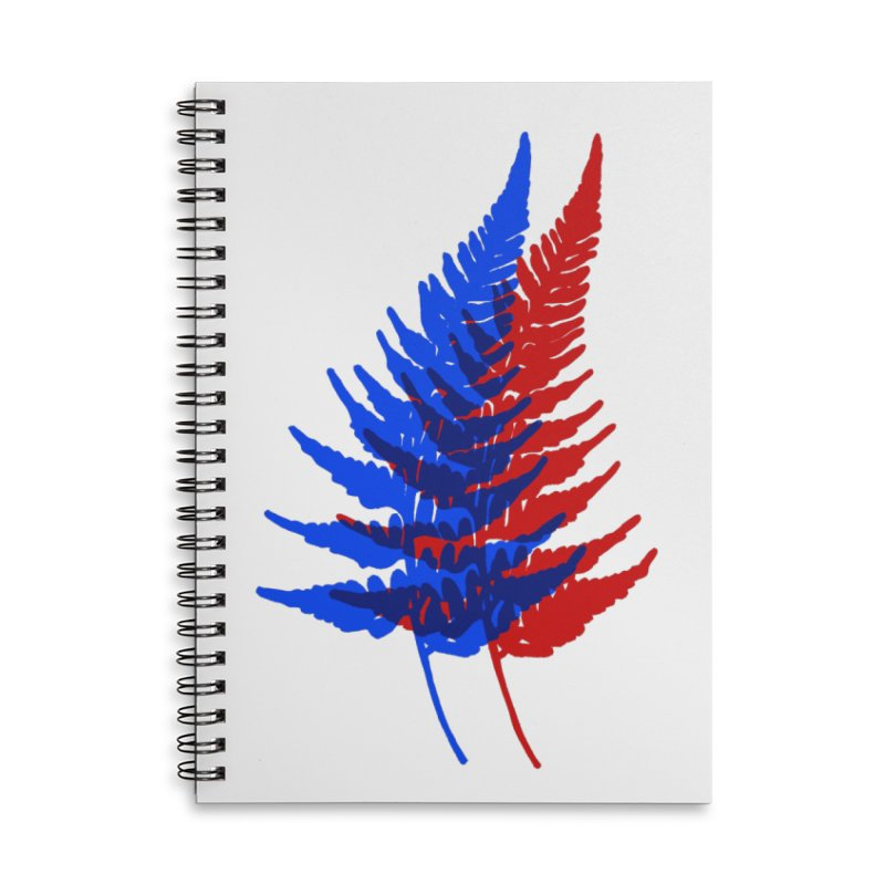 double fern Accessories Lined Spiral Notebook by EarthtoMonica