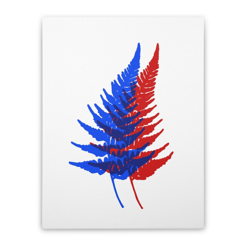 double fern Home Stretched Canvas by EarthtoMonica