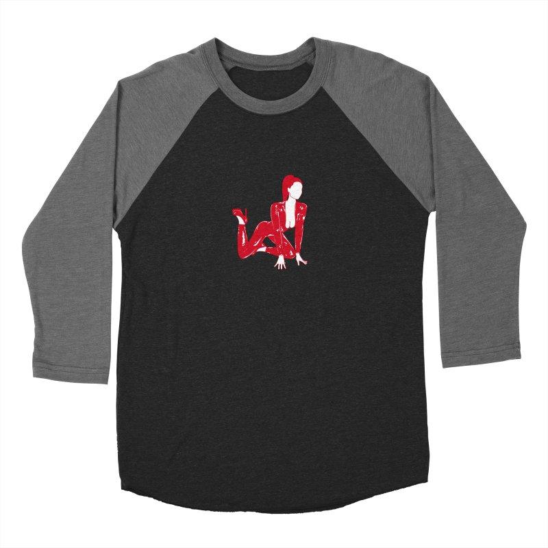 red latex babe Women's Longsleeve T-Shirt by EarthtoMonica