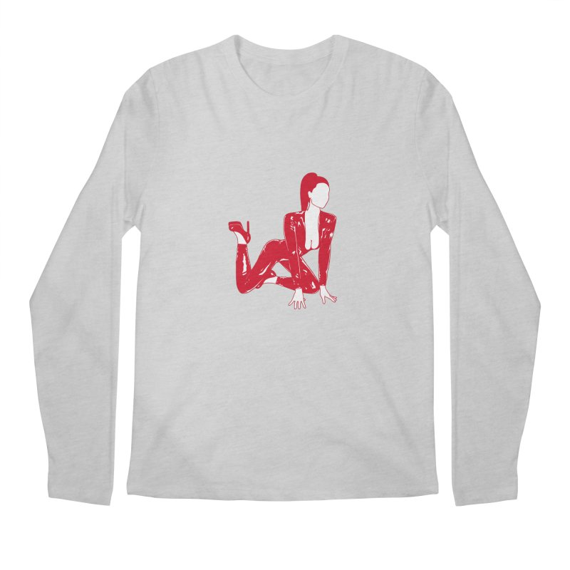 red latex babe Men's Longsleeve T-Shirt by EarthtoMonica