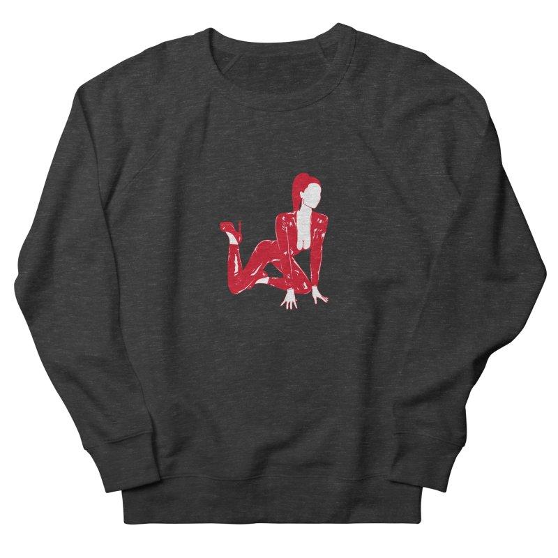 red latex babe Men's Sweatshirt by Earthtomonica's Artist Shop