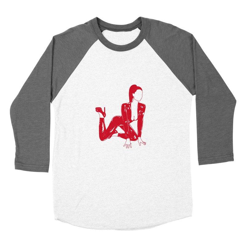 red latex babe Women's Baseball Triblend T-Shirt by Earthtomonica's Artist Shop