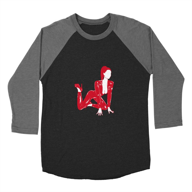 red latex babe Men's Baseball Triblend T-Shirt by Earthtomonica's Artist Shop