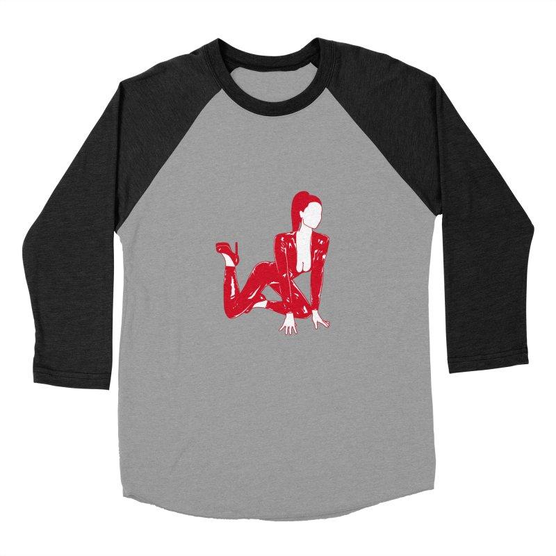 red latex babe Men's Baseball Triblend T-Shirt by Earthtomonica's Artist Shop