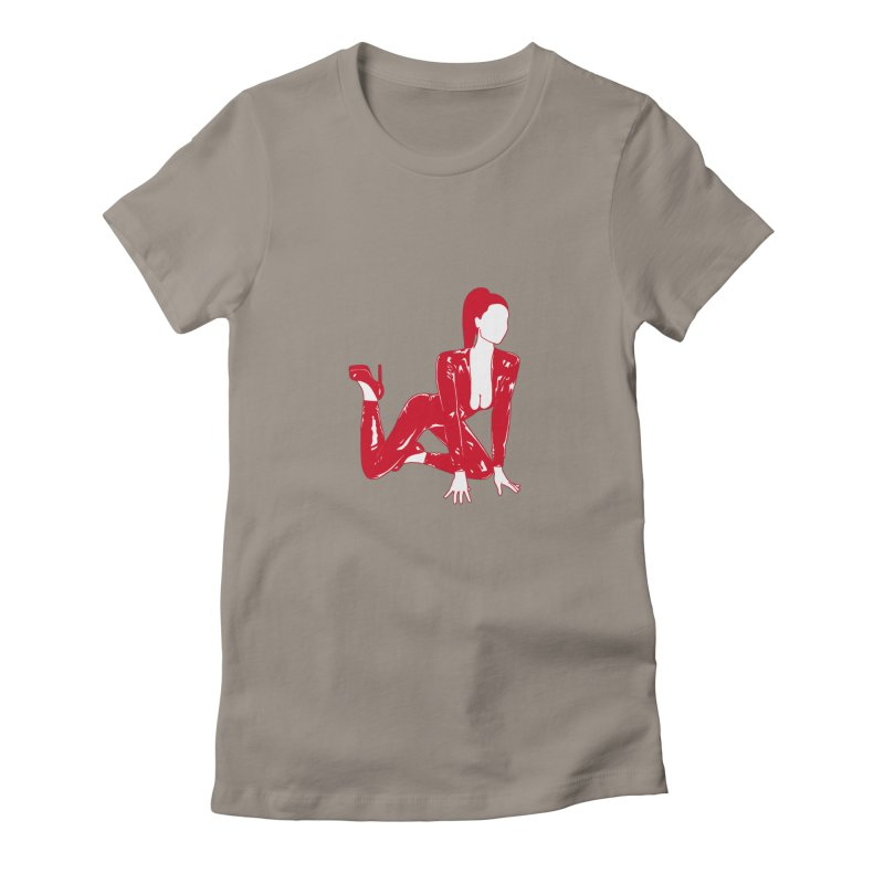 red latex babe Women's T-Shirt by EarthtoMonica