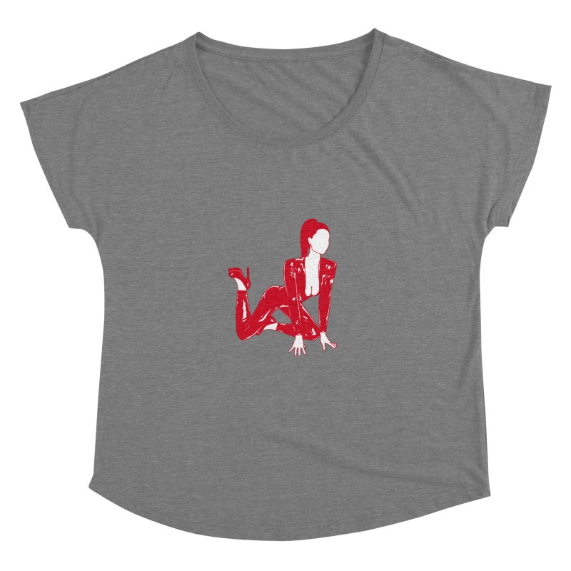 red latex babe Women's Dolman by Earthtomonica's Artist Shop