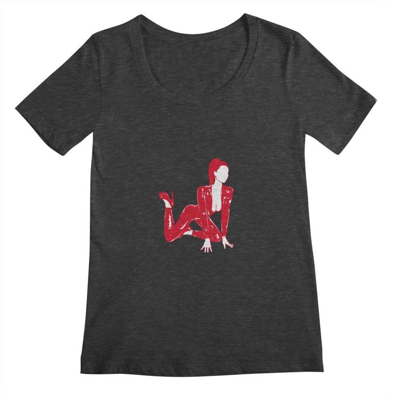 red latex babe Women's Scoopneck by Earthtomonica's Artist Shop