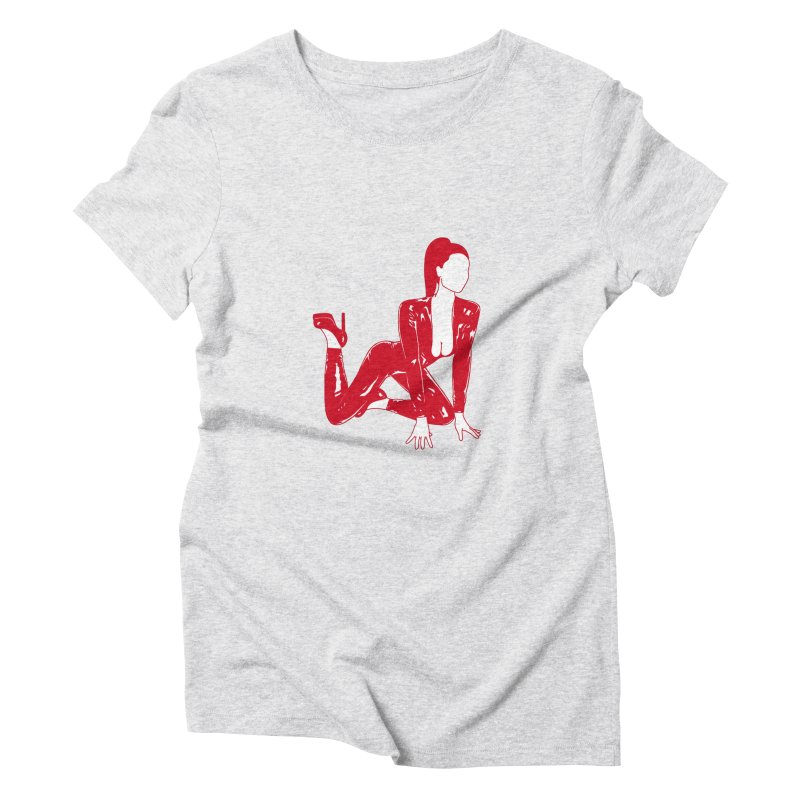 red latex babe Women's Triblend T-Shirt by Earthtomonica's Artist Shop