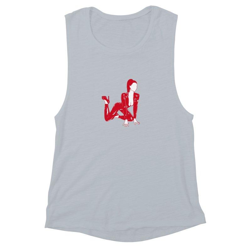 red latex babe Women's Muscle Tank by Earthtomonica's Artist Shop