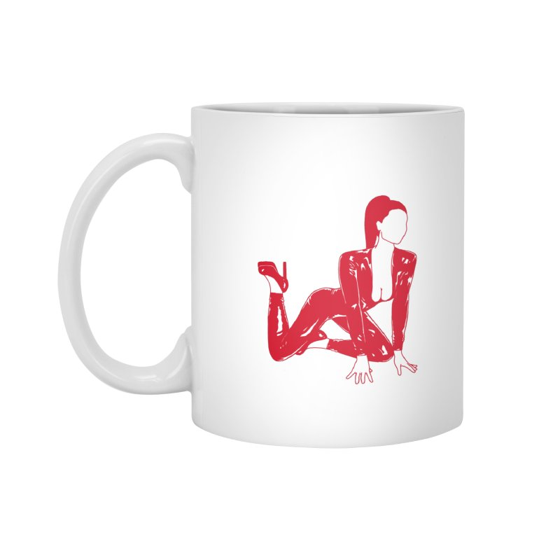 red latex babe Accessories Mug by Earthtomonica's Artist Shop