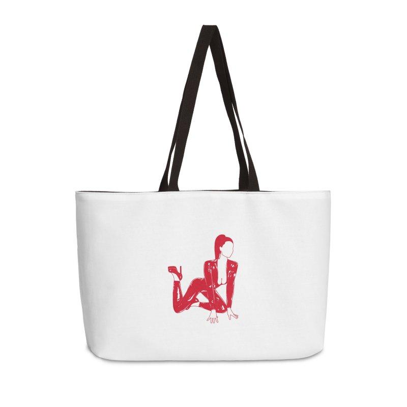 red latex babe Accessories Weekender Bag Bag by EarthtoMonica