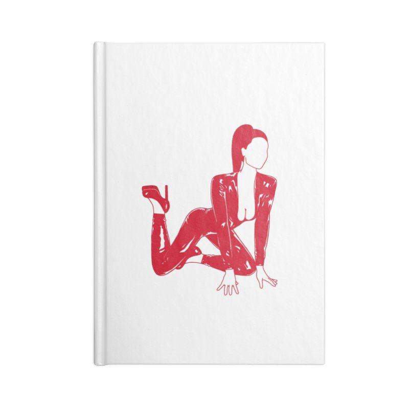 red latex babe Accessories Lined Journal Notebook by EarthtoMonica