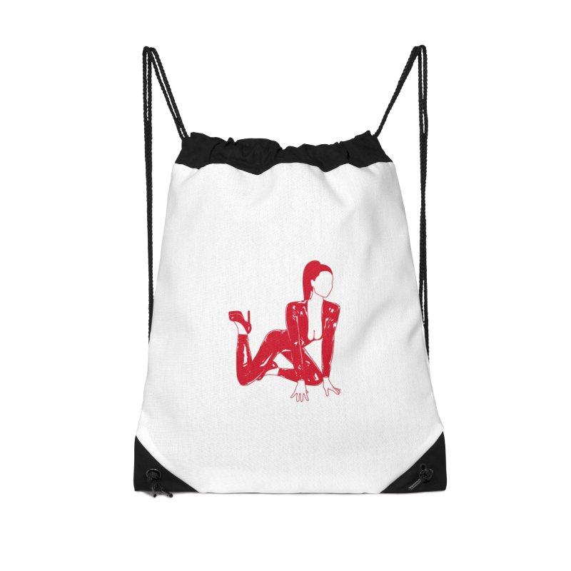 red latex babe Accessories Drawstring Bag Bag by EarthtoMonica