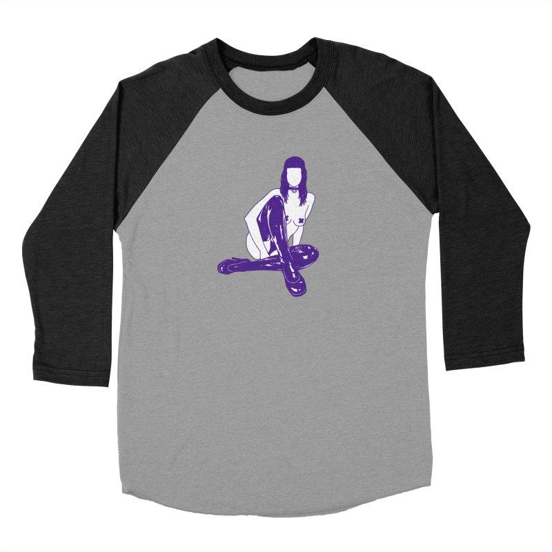 purple latex babe Men's Baseball Triblend T-Shirt by Earthtomonica's Artist Shop