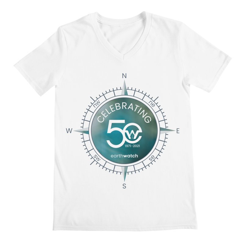 Earthwatch 50th Anniversary Men's V-Neck by Earthwatch