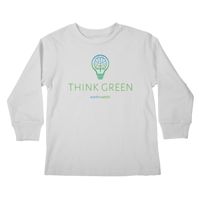 Earth Day 2021—Think Green Kids Longsleeve T-Shirt by Earthwatch