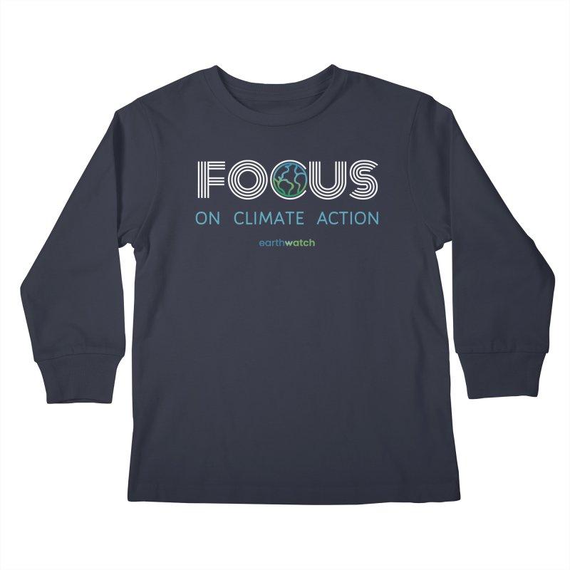 Earth Day 2021—Focus Kids Longsleeve T-Shirt by Earthwatch