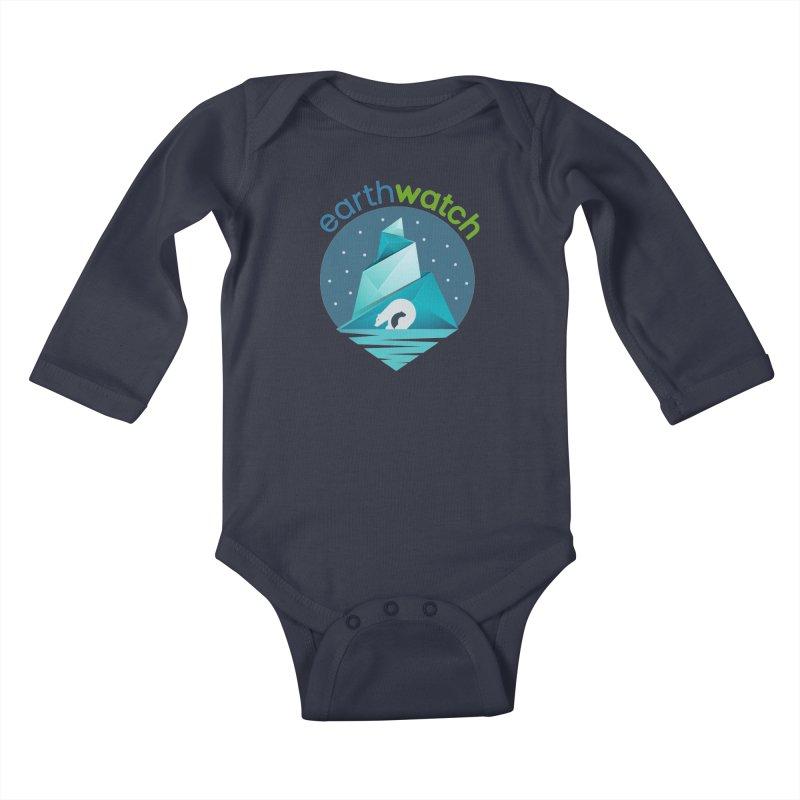 Polar Bear   Earthwatch Kids Baby Longsleeve Bodysuit by Earthwatch