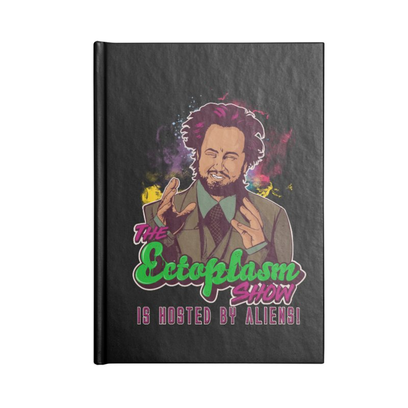Aliens Dark Accessories Lined Journal Notebook by EctoplasmShow's Artist Shop