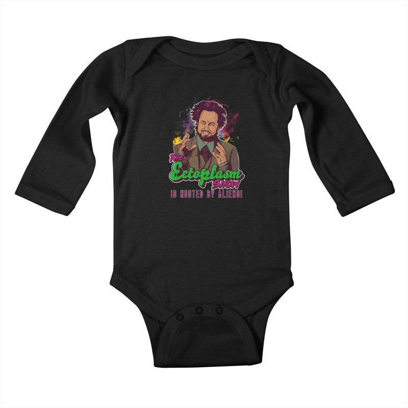 Aliens Dark Kids Baby Longsleeve Bodysuit by EctoplasmShow's Artist Shop