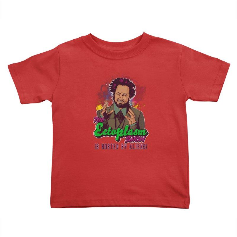 Aliens Dark Kids Toddler T-Shirt by EctoplasmShow's Artist Shop