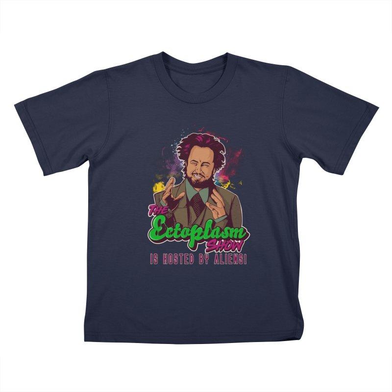 Aliens Dark Kids T-Shirt by EctoplasmShow's Artist Shop