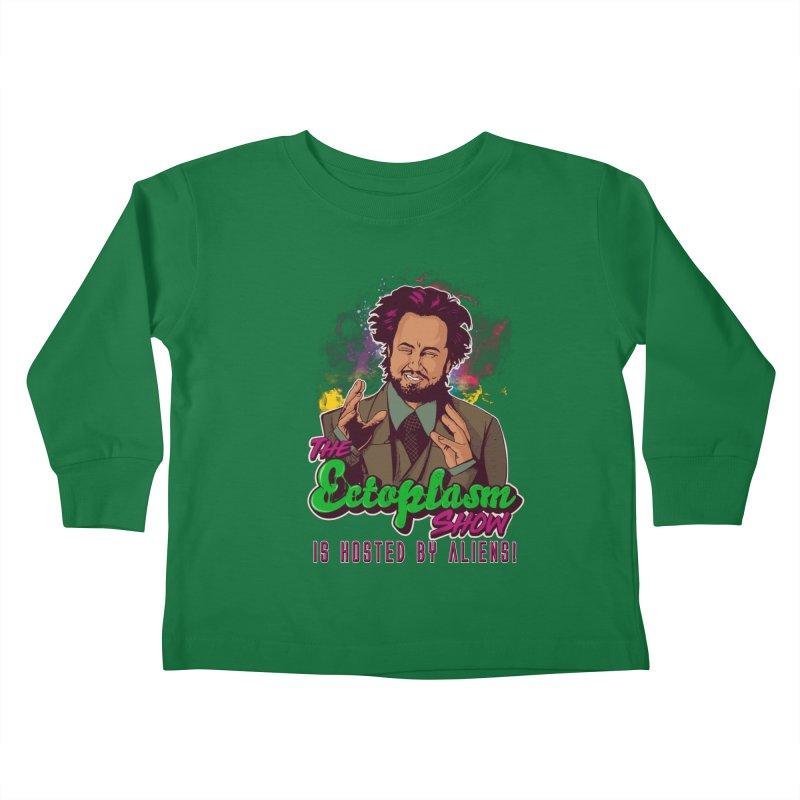 Aliens Dark Kids Toddler Longsleeve T-Shirt by EctoplasmShow's Artist Shop