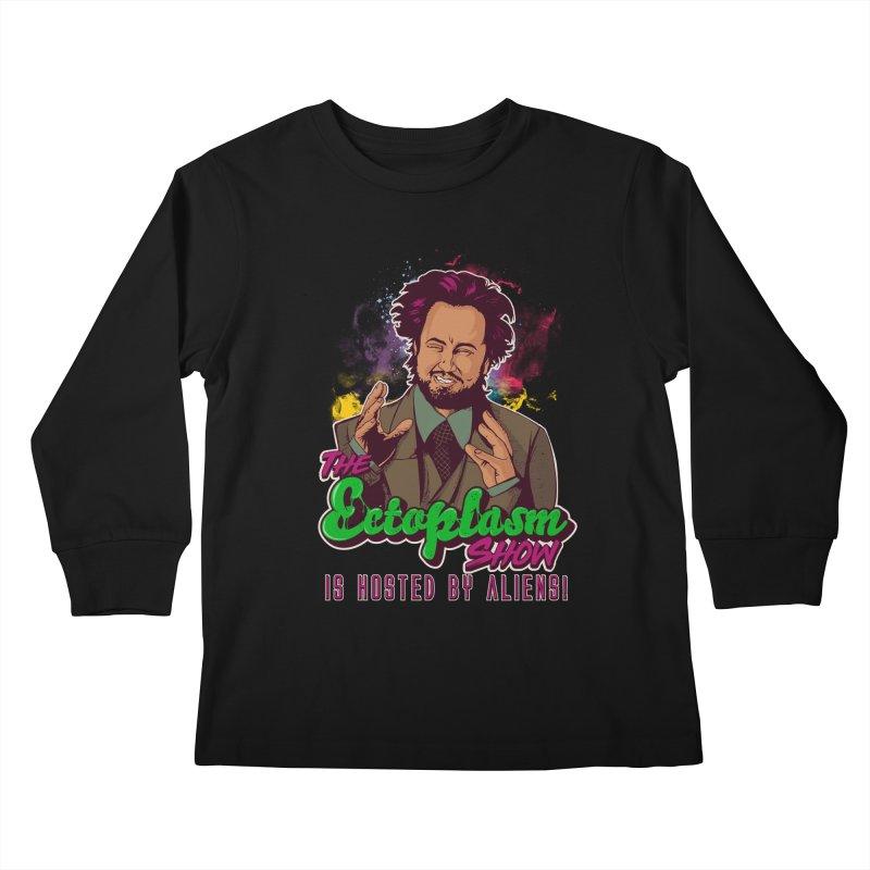 Aliens Dark Kids Longsleeve T-Shirt by EctoplasmShow's Artist Shop