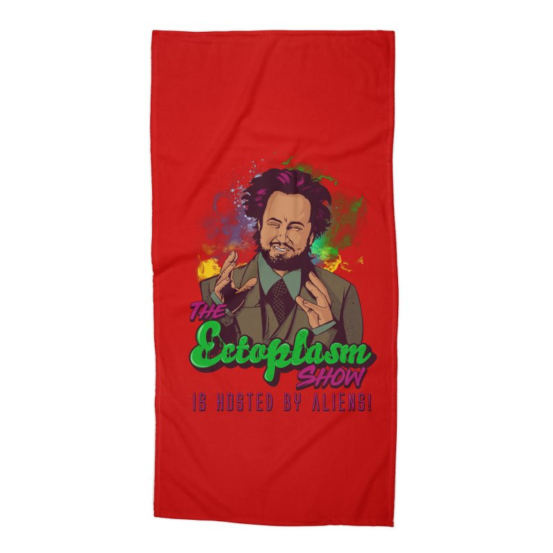 Aliens Light Accessories Beach Towel by EctoplasmShow's Artist Shop