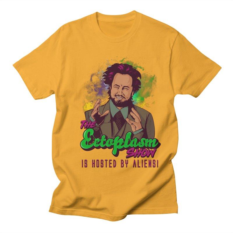Aliens Light Men's Regular T-Shirt by EctoplasmShow's Artist Shop