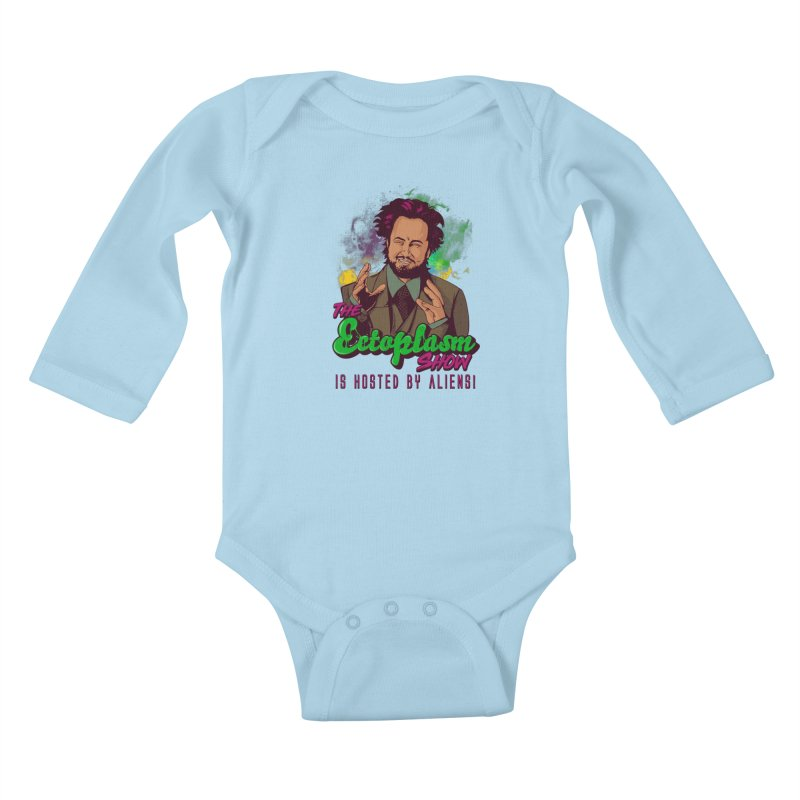 Aliens Light Kids Baby Longsleeve Bodysuit by EctoplasmShow's Artist Shop