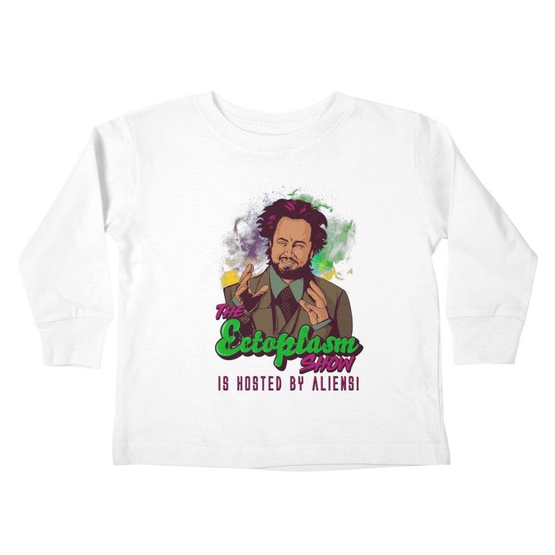 Aliens Light Kids Toddler Longsleeve T-Shirt by EctoplasmShow's Artist Shop