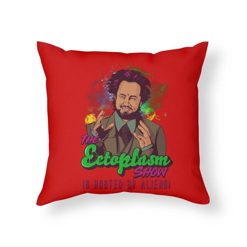 Aliens Light Home Throw Pillow by EctoplasmShow's Artist Shop