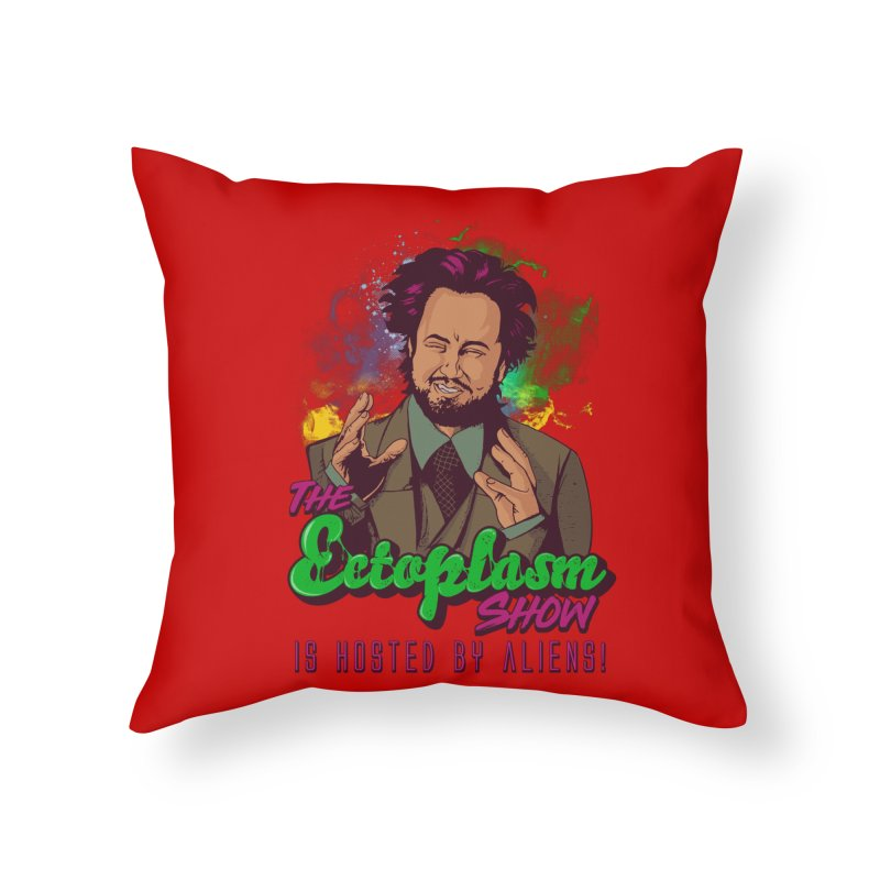 Aliens Light Home Throw Pillow by EctoplasmShow's Artist Shop