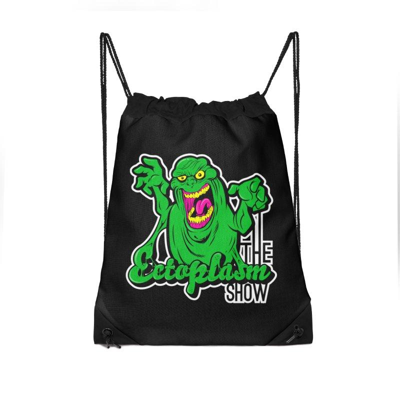 Ectoplasm Logo Dark Accessories Drawstring Bag Bag by EctoplasmShow's Artist Shop