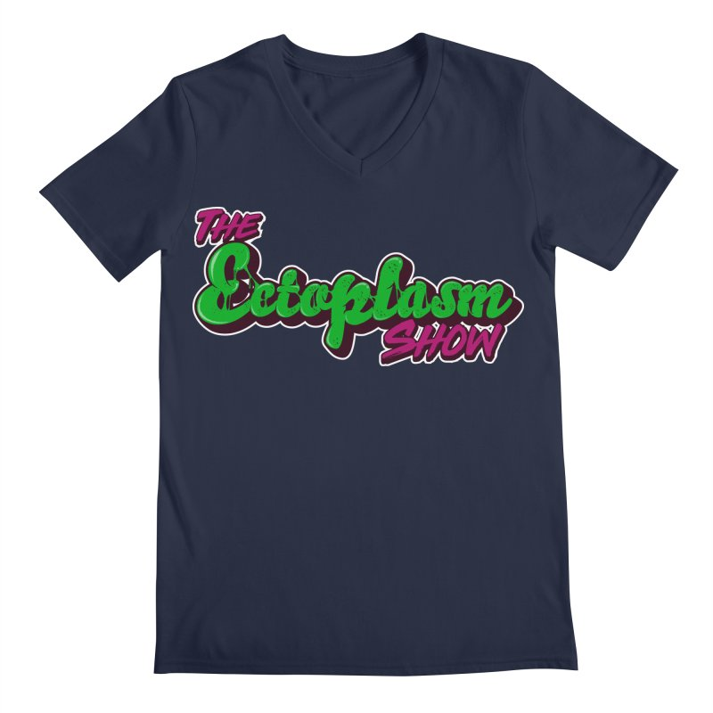 The Ectoplasm Show Text Men's Regular V-Neck by EctoplasmShow's Artist Shop