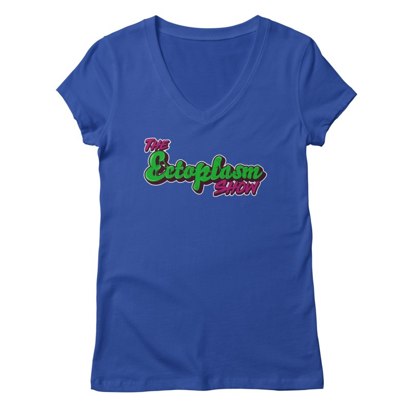 The Ectoplasm Show Text Women's Regular V-Neck by EctoplasmShow's Artist Shop