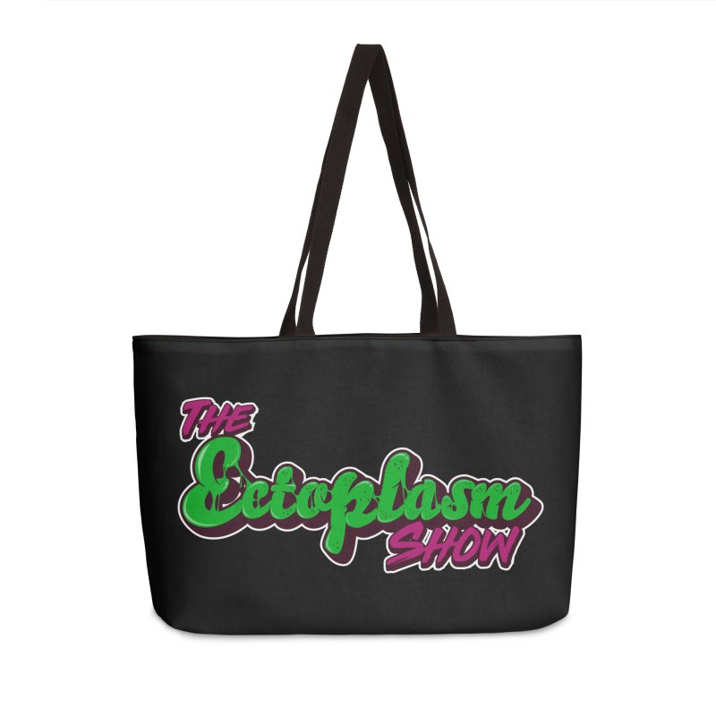 The Ectoplasm Show Text Accessories Weekender Bag Bag by EctoplasmShow's Artist Shop