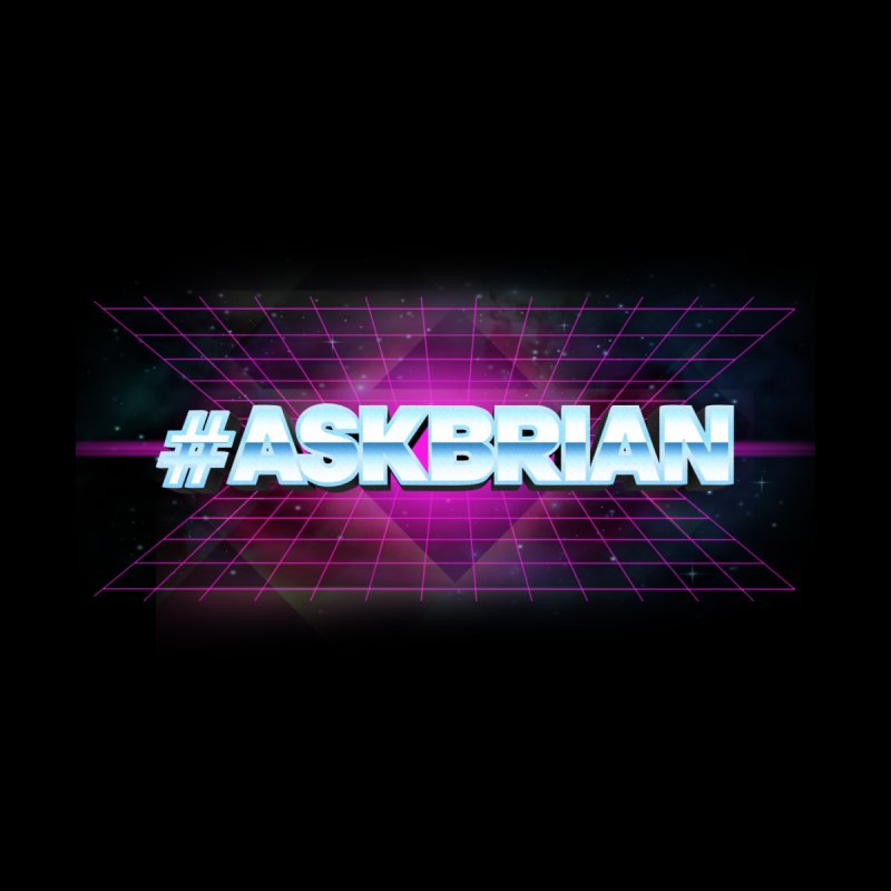 ASKBRIAN Home Stretched Canvas by EctoplasmShow's Artist Shop
